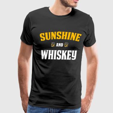 Funny Whiskey Lover Gift Sunshine and Whiskey - Men's Premium T-Shirt