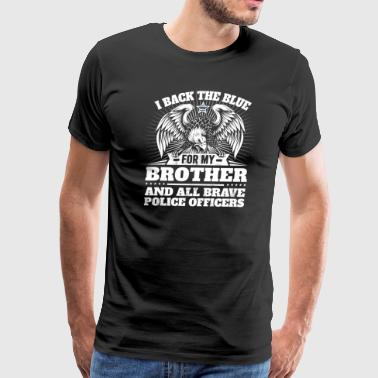 Police Officer Brother Thin Blue Line - Men's Premium T-Shirt