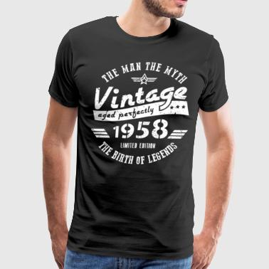 60th Birthday Gift For Men 1958 - Men's Premium T-Shirt