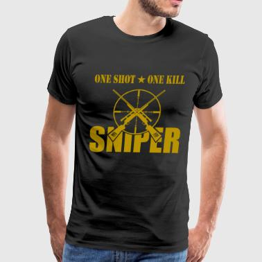 ONE SHOT ONE KILL SNIPER - Men's Premium T-Shirt