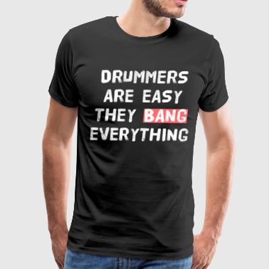 DRUMMER - PARTY - SEX - Men's Premium T-Shirt