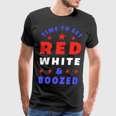 4th of july independence day red white boozed gift - Men's Premium T-Shirt