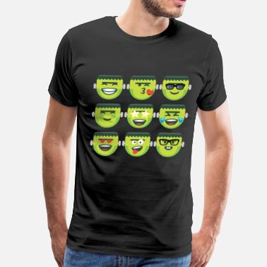 Personality Frankenstein for Spooky and Scary Halloween - Men's Premium T-Shirt