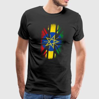 British Ethiopian Flag - Ethiopia and UK Pride TShirt - Men's Premium T-Shirt