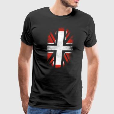 British Switzerland Flag - Swiss and UK Pride TShirt - Men's Premium T-Shirt