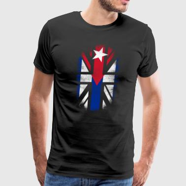 British Cuban Flag - Cuba and UK Pride TShirt - Men's Premium T-Shirt