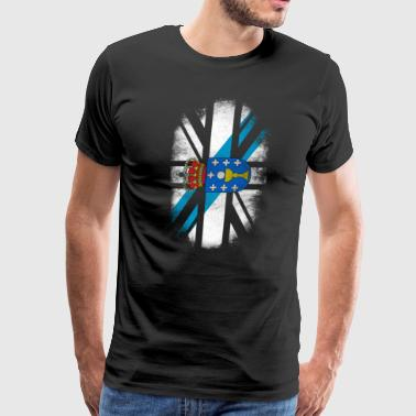 British Galician Flag - Galicia and UK Pride TShirt - Men's Premium T-Shirt