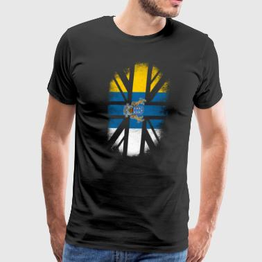 Tops Jacked British Canarian Flag - Canary Islands and UK Pride TShirt - Men's Premium T-Shirt