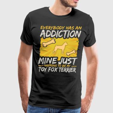 Canine Toy Fox Terrier Funny Dog Addiction - Men's Premium T-Shirt