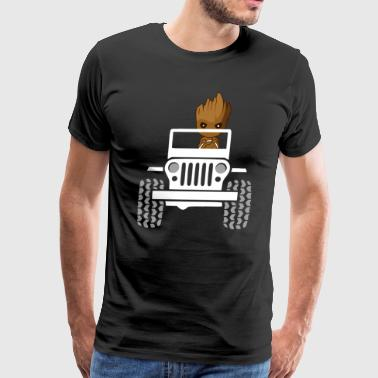 Baby Groot Drive A Jeep - Men's Premium T-Shirt
