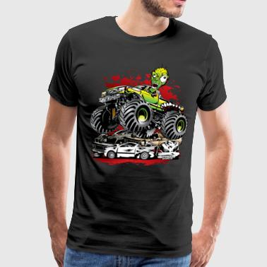 Ghoulish Monster Truck - Men's Premium T-Shirt