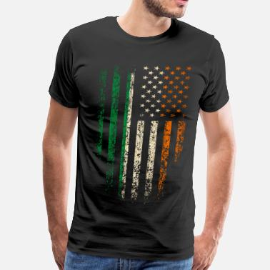 Grunge Irish Irish Americans Flag - Men's Premium T-Shirt