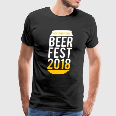Beerfest Oktoberfest 2018 Beer can Munich drinking - Men's Premium T-Shirt