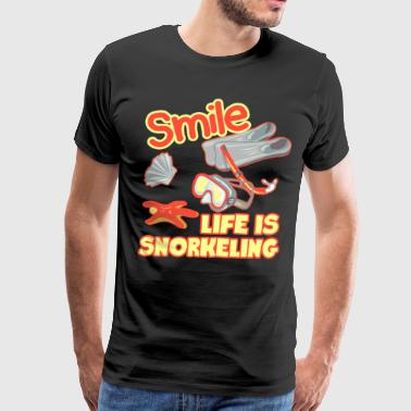 Life Is Snorkeling Shirt - Men's Premium T-Shirt