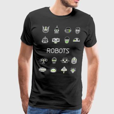 robots Head android Toys - Men's Premium T-Shirt