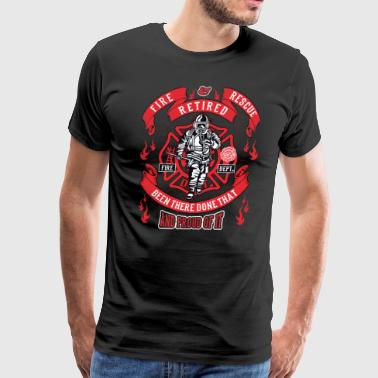 Kenworth Trucks Firefighter Maltese Cross First Responders Retired - Men's Premium T-Shirt