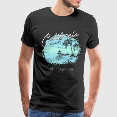 Surfer California Beach Surf Surfer Gift - Men's Premium T-Shirt