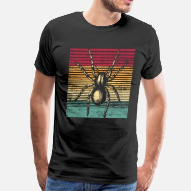 Arachnid Spider Arachnid Horror Halloween Animal Retro - Men's Premium T-Shirt
