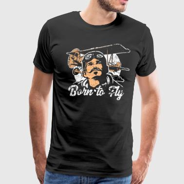 Born to Fly Vintage - Men's Premium T-Shirt