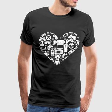 New Video Game Heart Awesome Nerd Geek Clothing Xb - Men's Premium T-Shirt
