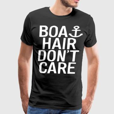 Boat Hair Don t Care Anchor Nautical Vacation Beac - Men's Premium T-Shirt