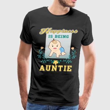 Happiness Is Being Auntie T Shirt - Men's Premium T-Shirt