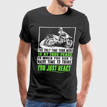 the only time your mind biker - Men's Premium T-Shirt