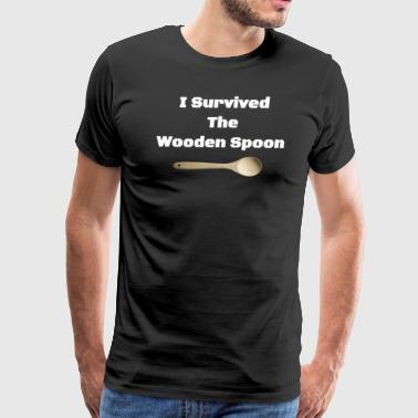 I Survived The Wooden Spoon - Funny Italian Gifts - Men's Premium T-Shirt