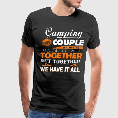Awesome Camping Couple Camping Couple T Shirt - Men's Premium T-Shirt