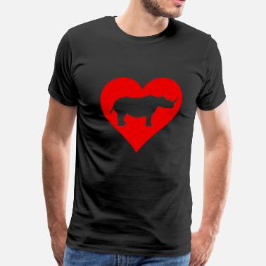 I Love Rhinos Heart Love Rhino Rhinoceros Safari Gifts - Men's Premium T-Shirt