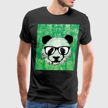 panda graffiti love pop art - Men's Premium T-Shirt
