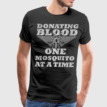 Donating Blood 1 Mosquito At A Time silver design - Men's Premium T-Shirt