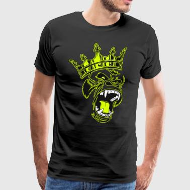 Gorilla King roar - Men's Premium T-Shirt
