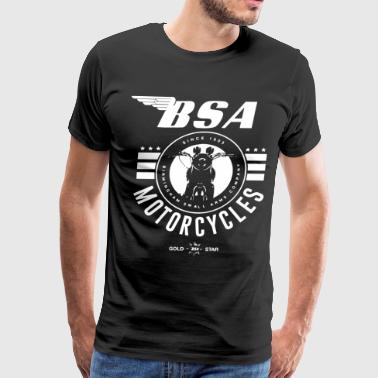 Motorcycles Official Bsa British Motorcycles Bike Logo Grey Si - Men's Premium T-Shirt