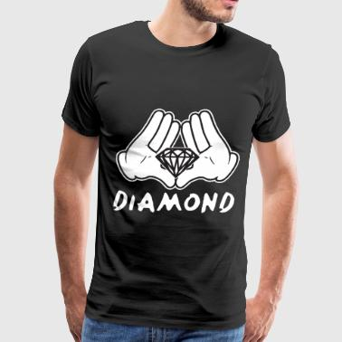 Salute Cartoon Hands Diamond most dope illuminati diamond - Men's Premium T-Shirt