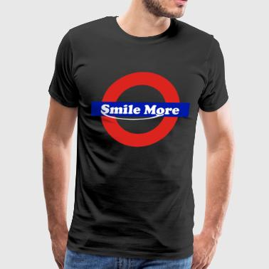 smile more - underground - Men's Premium T-Shirt