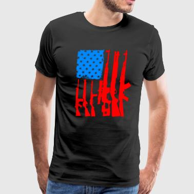 Ammo Flag American Flag With Rifles and Firearms as Strips G - Men's Premium T-Shirt
