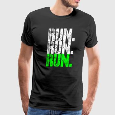 run run run neongreen - Men's Premium T-Shirt