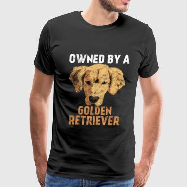 Dogs Grudge - Owned by a golden retriever - Men's Premium T-Shirt