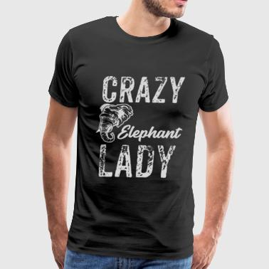 Elephant Lovers Crazy Elephant Lady, Elephant Lover - Men's Premium T-Shirt