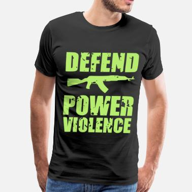 Power Violence Defend Power Violence - Men's Premium T-Shirt