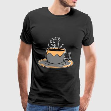 coffee cup steaming hot gift idea - Men's Premium T-Shirt