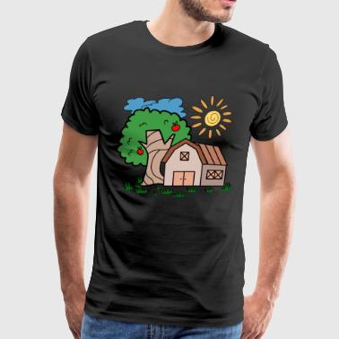 Sun House province tree house barn sun gift idea - Men's Premium T-Shirt