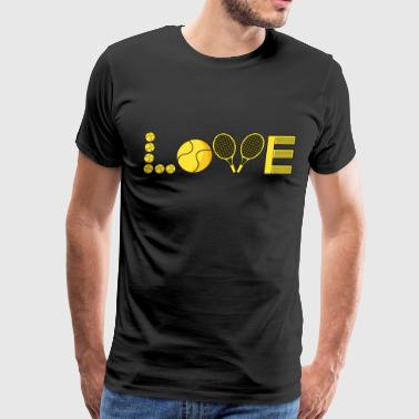 Jocking tennis racket ball love game sports gift idea - Men's Premium T-Shirt