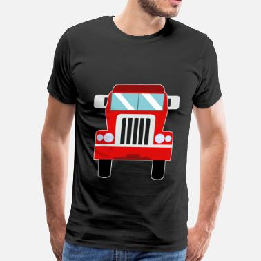 Automotive Apparel truck red automotive vehicle cartoon gift idea - Men's Premium T-Shirt