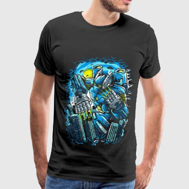 Giant Mecha Robot Anime - Men's Premium T-Shirt