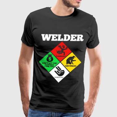 Weld Diamond Life Welder Flammable Welder T Shir - Men's Premium T-Shirt