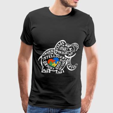 Autism Awareness Elephant Toddler Kids Support The - Men's Premium T-Shirt