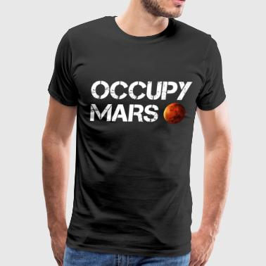 Occupy Mars Elon Musk Joe Rogan Smoking Weed - Men's Premium T-Shirt
