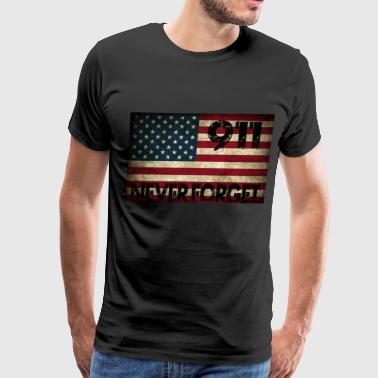 9 Grunge US Flag 911 - Men's Premium T-Shirt